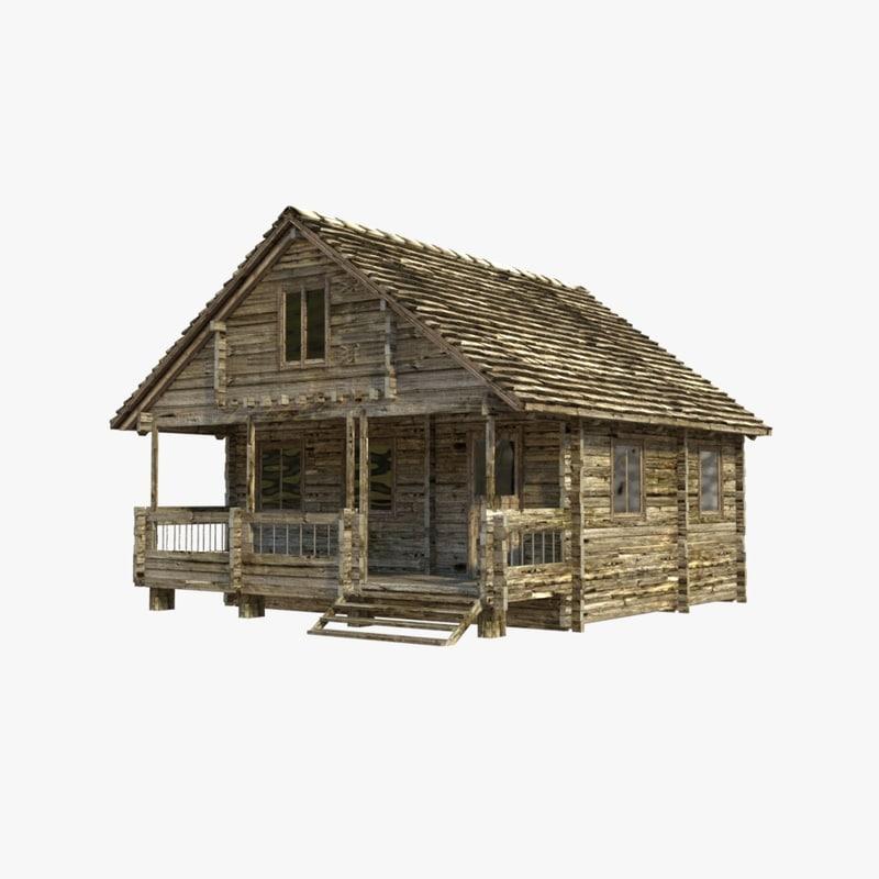 Wooden house 3d model for 3d model of house