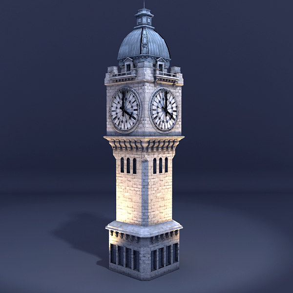 3d model clock tower