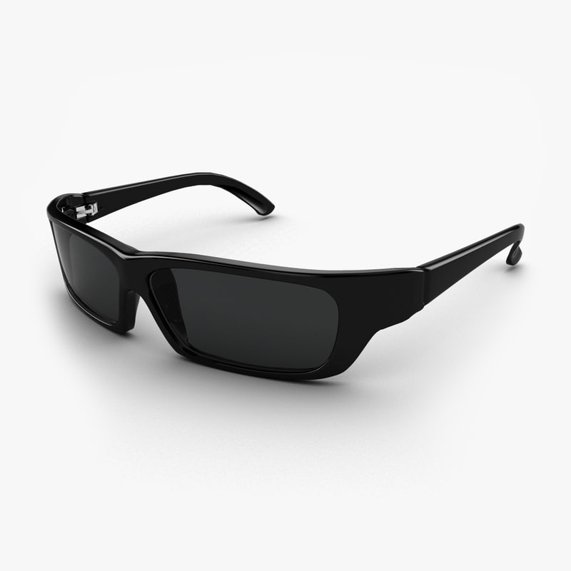 3ds max black sunglasses