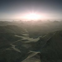 Terrain Landscape Sunset