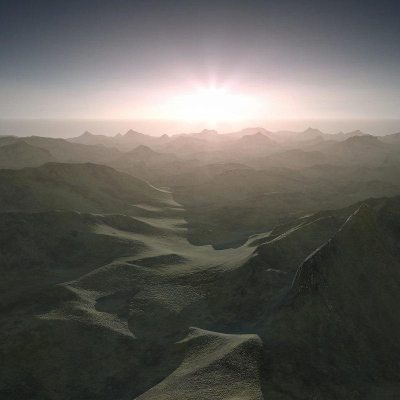 scene terrain landscape 3d model