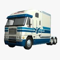 3d freightliner argosy truck model