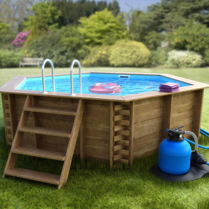 obj garden pool exterior