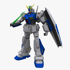 gundam alex nt 3d model