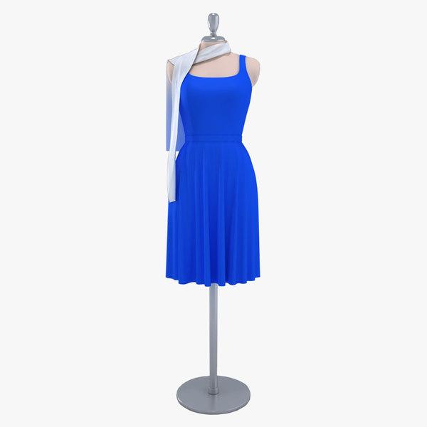 3ds max elegant dress dummy showroom