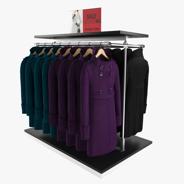 3d model female coats rack 1