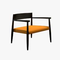 piero ghiaccio armchair chair 3d max