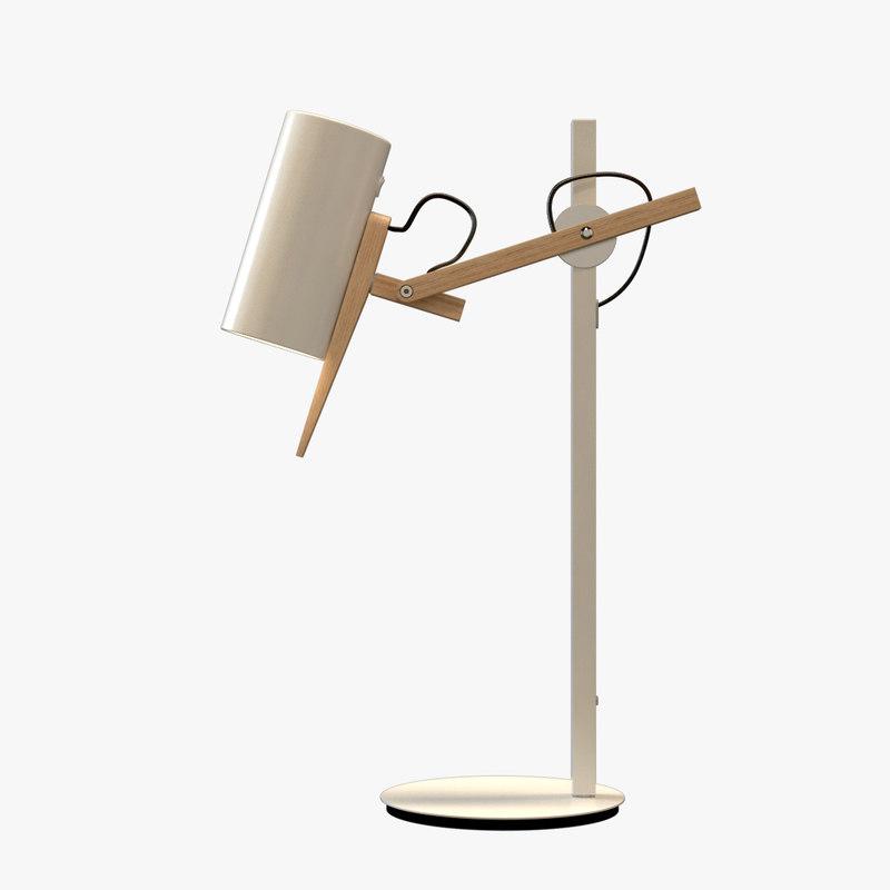 desk lamp rig 3d max