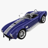 3d model realistic shelby cobra 427