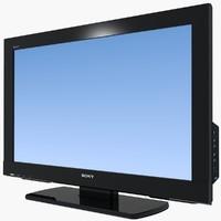 tv sony bravia 3d model