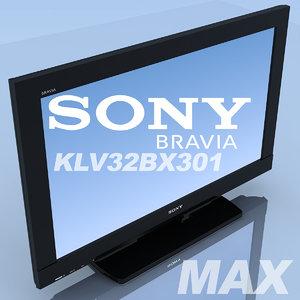 3d max tv sony bravia 32bx301