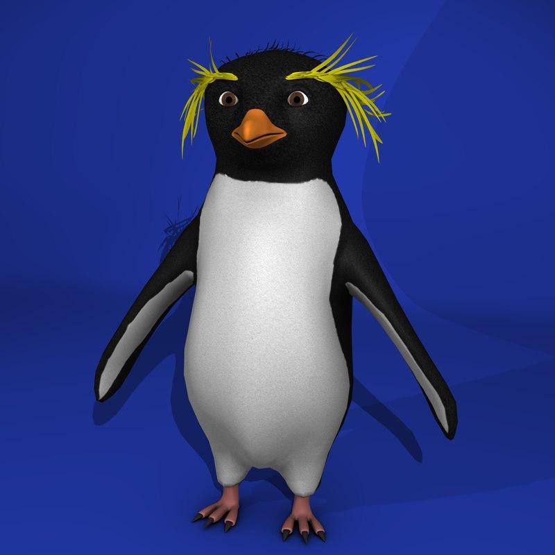 rockhopper penguin 3d model