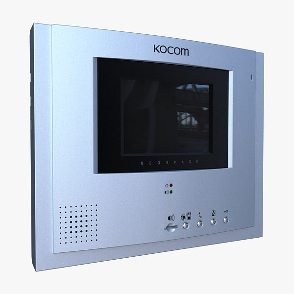 kocom doorphone 3d model