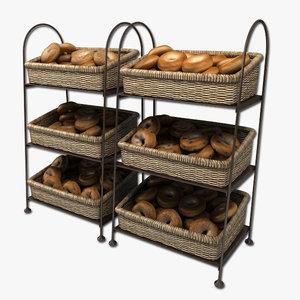 bagel displays 3d model