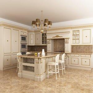 3d kitchen francesco molon model