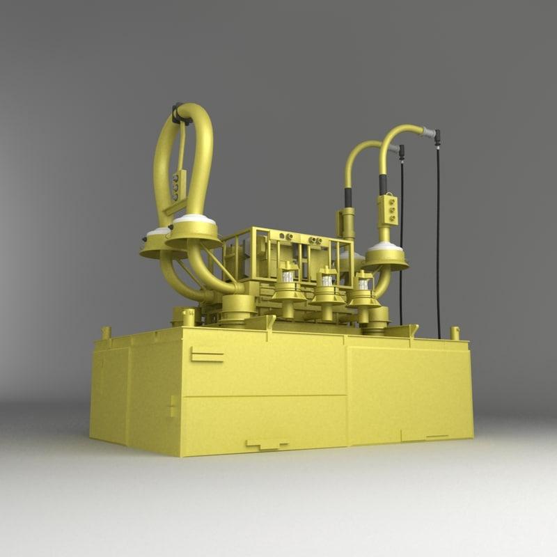 sub sea manifold 3d model