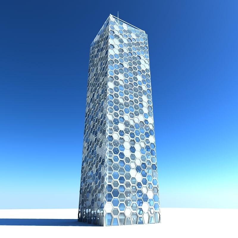 3ds max modern skyscraper