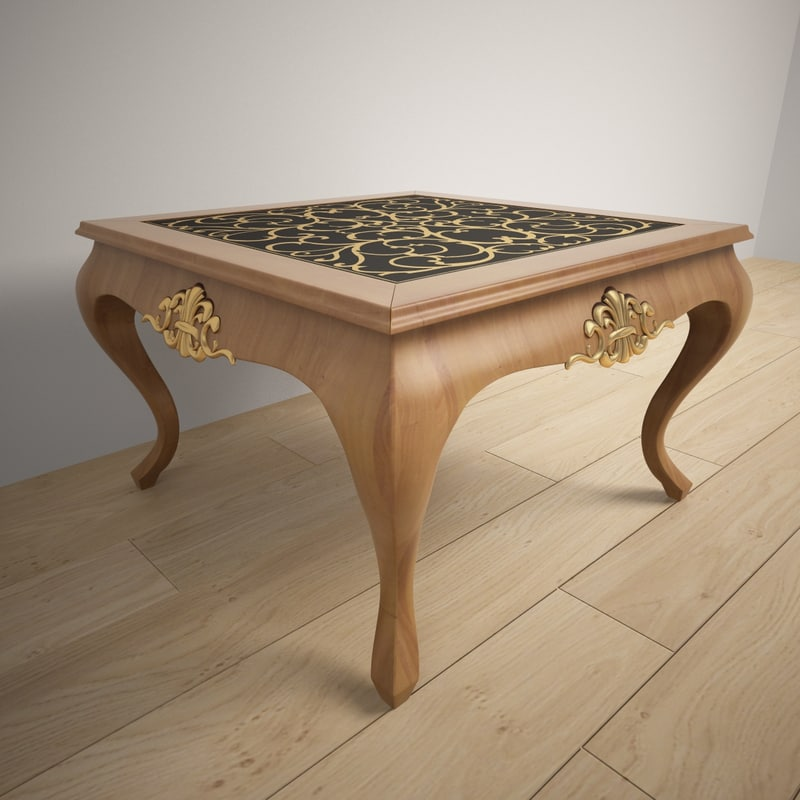 3d model wood coffee table giorgio