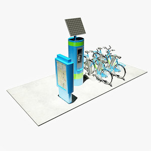 bicycle sharing 3d 3ds