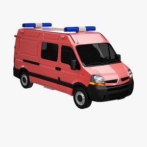 3ds max renault master van emergency