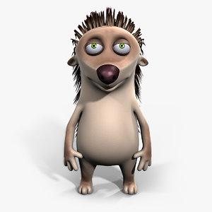 hedgehog cartoon 3d model