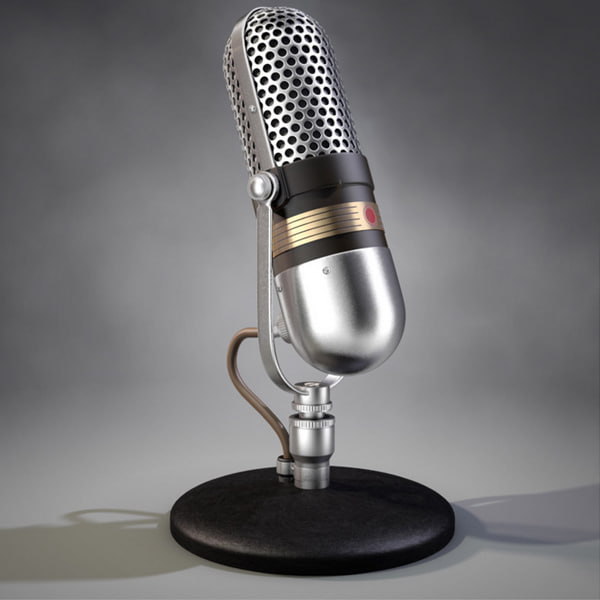 realistic vintage 77-dx microphone dxf