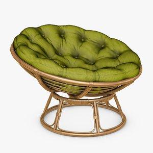 3d model papasan chair