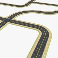 set road 3d model