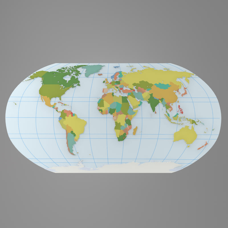 world atlas 3d model