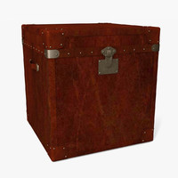 leather trunk travel 3d max