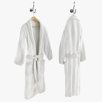Bathrobe On Hanger And Hook