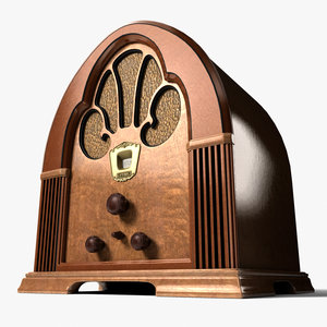 3d 3ds realistic radio antique