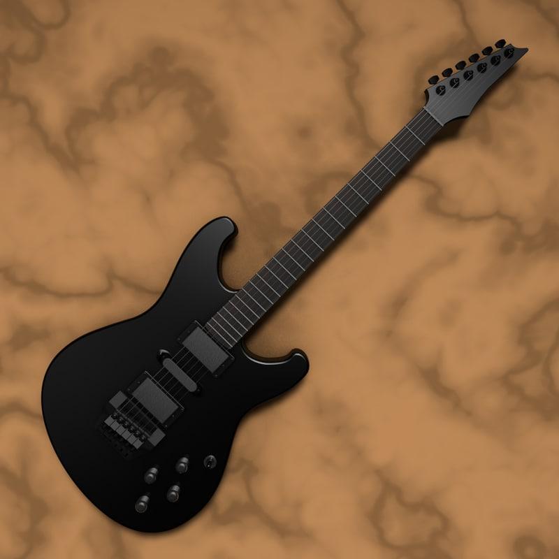 3d fender electric guitar model