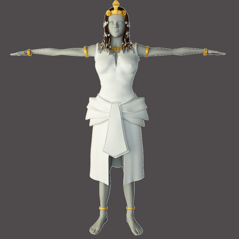 3d model cleopatra woman historical girl