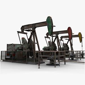 3d oil pumpjacks model