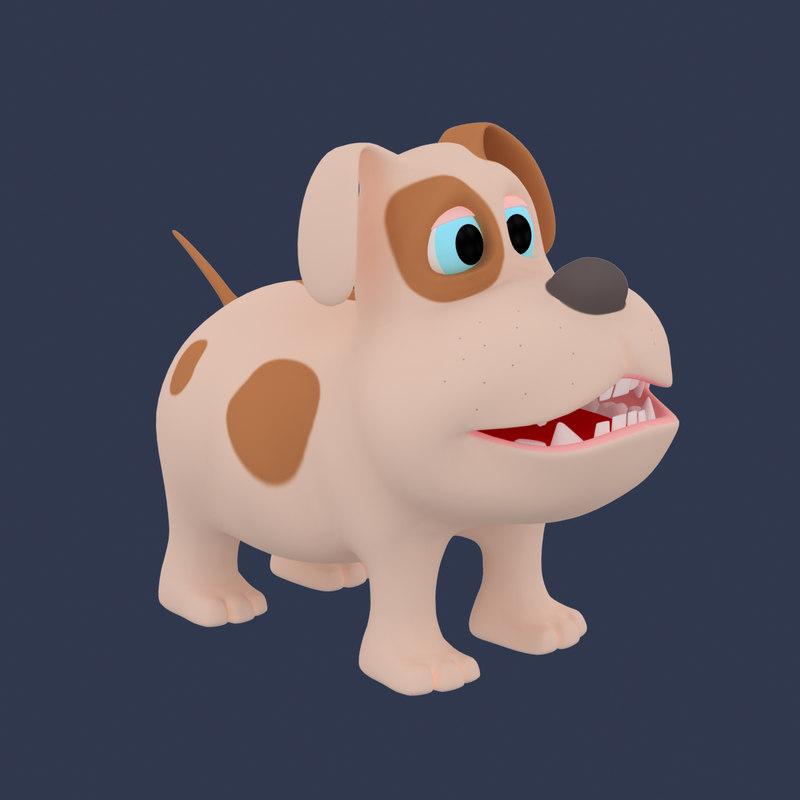 3d dog cartoon model