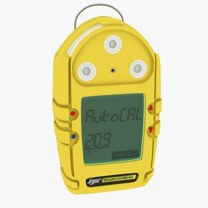 3d gas detector model