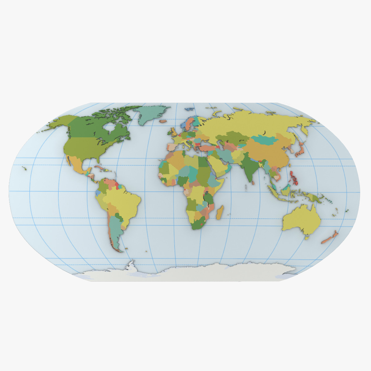 world atlas 3d model