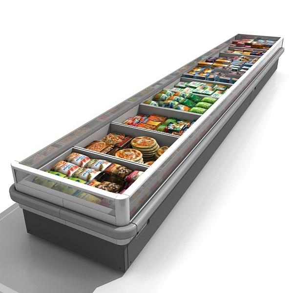 3d model supermarket refrigerator