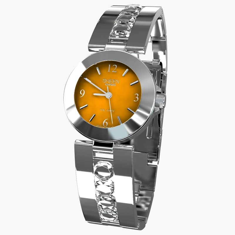 casio sheen diamonds watches 3d model