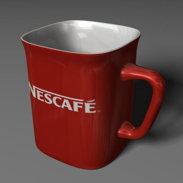 3d model nescafe mug