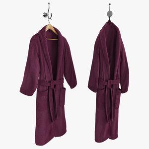 max purple bathrobe hanger hook