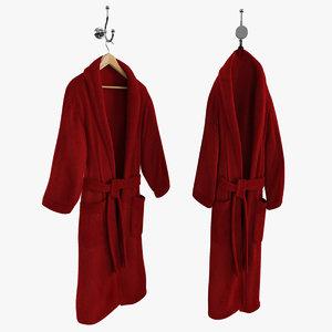 3d red bathrobe hanger hook