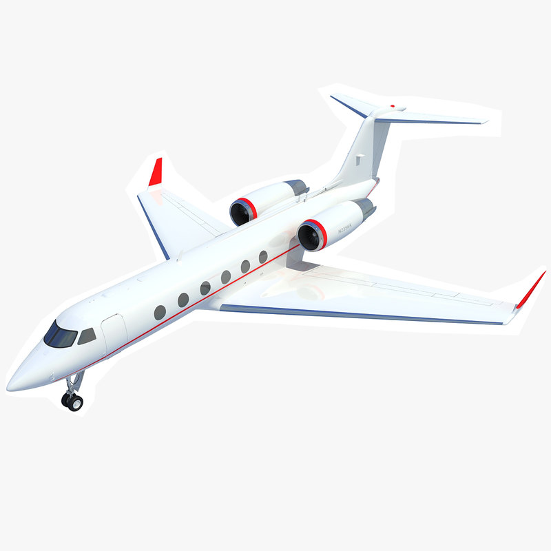 3ds gulfstream iv business jet