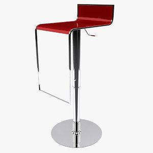 3d model bar stool 002