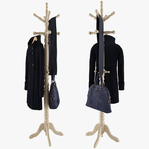 3d rack coat bag scarf