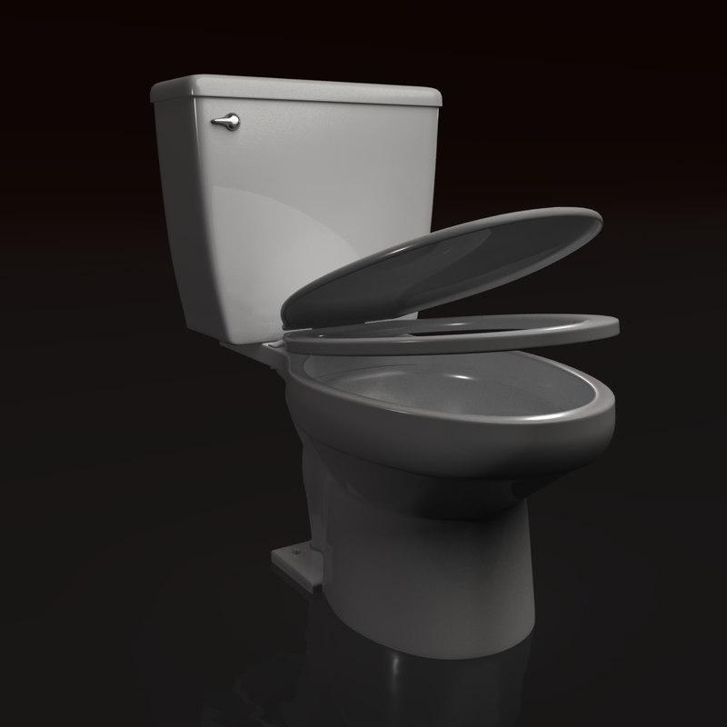 toilet realistic 3d model
