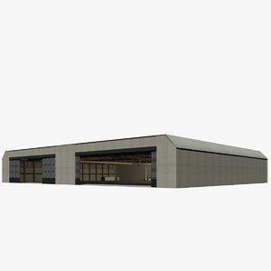 assembly hangar 3d xsi