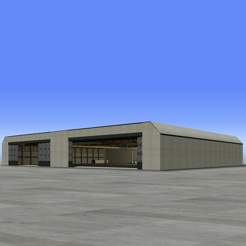 assembly hangar 3d xsi