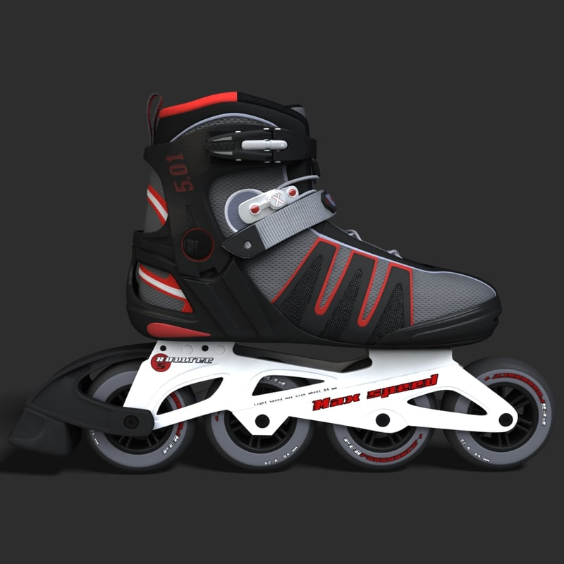 3d model rollerblades roller